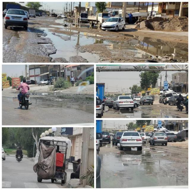 وضعیت معابر کوی منبع آب اهواز