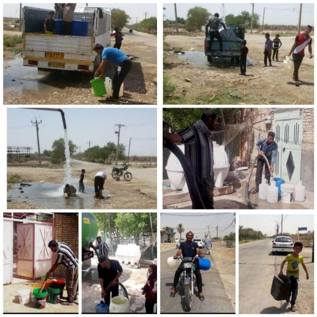 جلوه های بی آبی در شهرها و روستاهای خوزستان