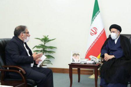 علی شمخانی دبیر شورای عالی امنیت ملی با رییس جمهور منتخب دیدار کردند
