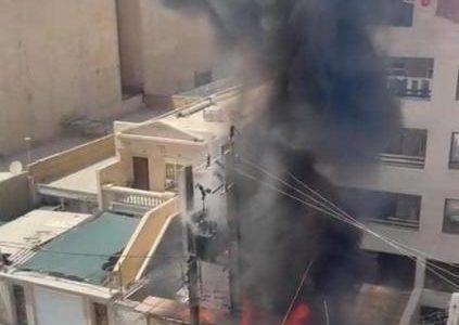 انفجار ترانس برق در اهواز حادثه ساز شد