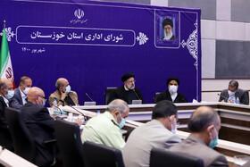رئیس جمهور در اهواز : شورای عالی آب میتواند مشکل آب خوزستان را حل کند