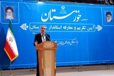 استاندار جدید خوزستان : در توزیع مدیریت ها باید تناسب ایجاد کنیم / باید بین منابع خوزستان و پیشرفت و آبادانی آن توزان برقرار باشد
