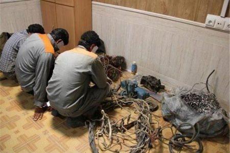 دستگیری سارقان تجهیزات و منصوبات مخابراتی رامهرمز و آبادان خوزستان