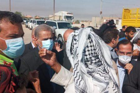 بازدید استاندار خوزستان از پایانه مرزی چذابه