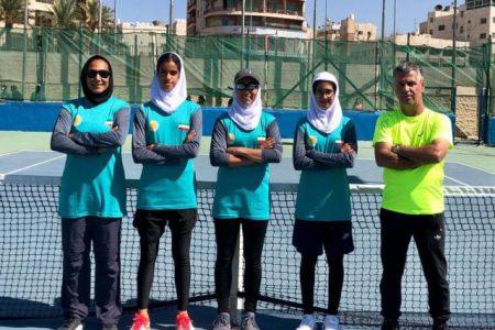 قهرمانی تیم تنیس دختران ایران در مسابقات قهرمانی غرب آسیا