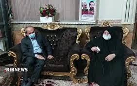 رییس سازمان صداوسیما با مادر سرلشکر شهید علی هاشمی دیدار کرد