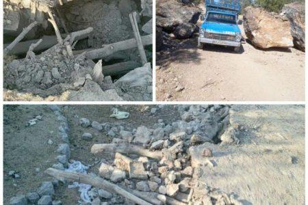 تصاویری از آثار زلزله ۵ ریشتری که بامداد امروز منطقه قلعه خواجه را لرزاند