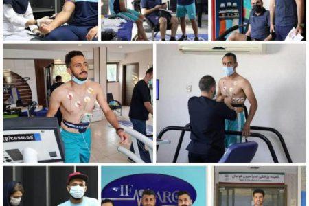 شرکت بازیکنان استقلال ملاثانی در تست پزشکی پیش فصل ایفمارک