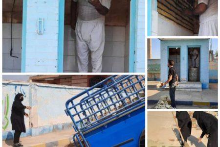 بازسازی مدرسه روستای حلاف توسط خانم ها عبیداوی و دحیمی دو معلم جهادی حمیدیه